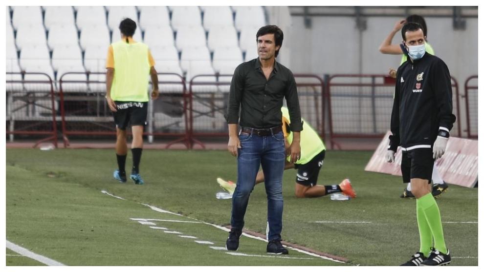 Mário Silva, en su etapa como entrenador del Almería.