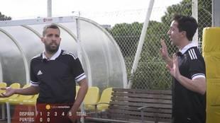 """El 'cabreo' de Jordi Alba con un presentador en un reto de puntería: """"No te rías..."""""""