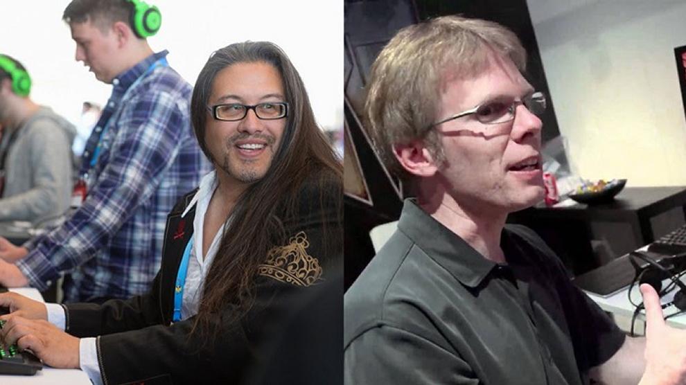 John Romero (izq.) y John Carmack (der.)