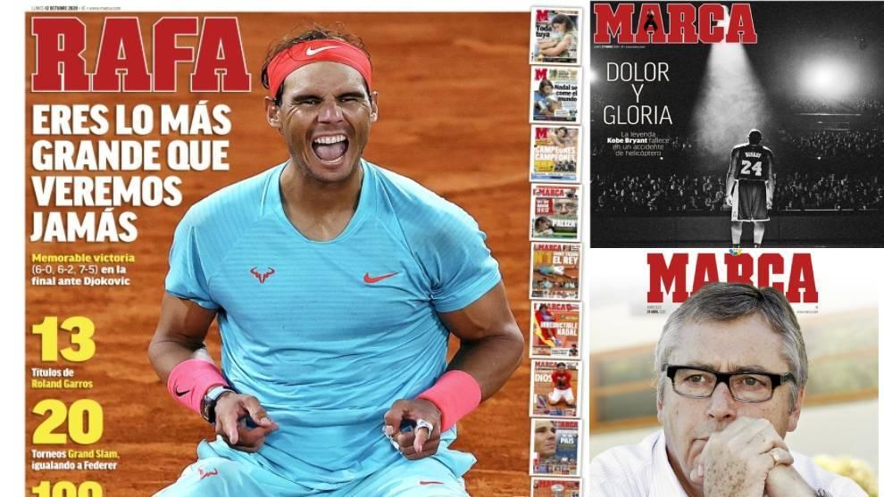 El triunfo de Nadal en Roland Garros, mejor portada de MARCA del año 2020