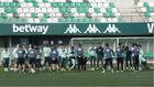 La plantilla del Betis, en un entrenamiento