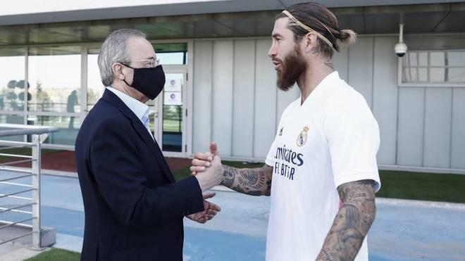 Florentino Perez and Sergio Ramos