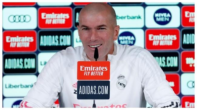 Zidane, en la sala de prensa.