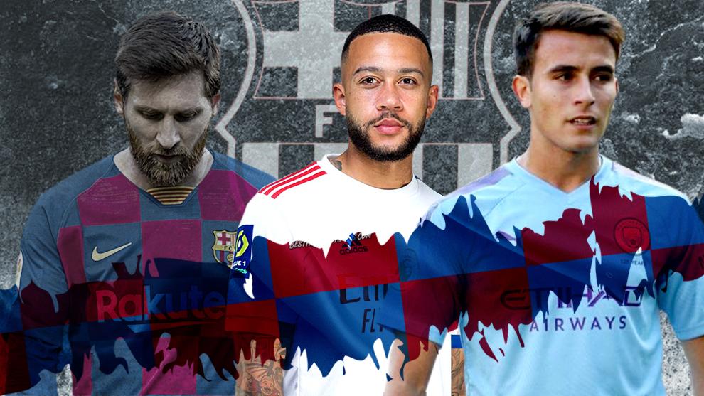 Messi, Depay and Eric Garcia