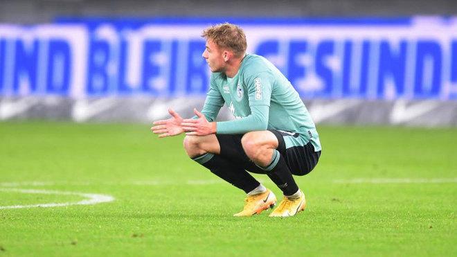 Timo Becker, cabizbajo ante el Hertha.