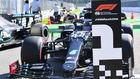 El Mercedes de Lewis Hamilton.