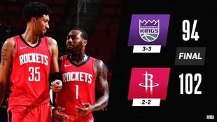 Christian Wood y John Wall lideraron el triunfo de los Rockets ante...