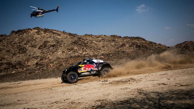 Carlos Sainz, en el Dakar 2021.