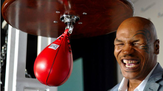 La leyenda del boxeo Mike Tyson.