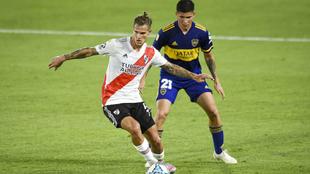 River Plate y Boca Juniors igualaron a dos tantos en el Clásico...