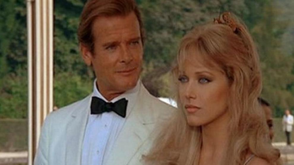 Roger Moore and Tanya Roberts