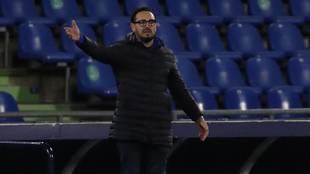 Bordalás, en el partido ante el Valladolid.