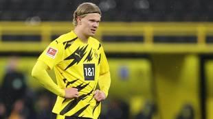 Haaland, con el Borussia Dortmund.