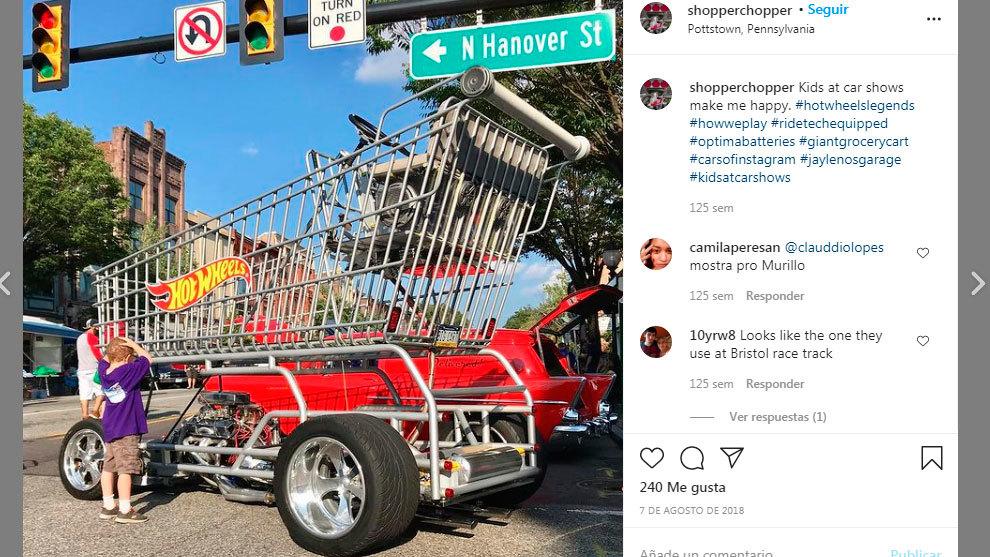 Lo que nos faltaba por ver: un carrito de supermercado... ¡con 340 CV!