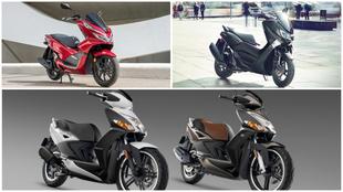 La Honda PCX125, la Yamaha NMAX 125 y la Kymco Agility City 125.