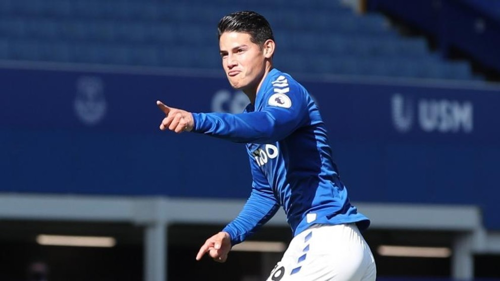 James Rodriguez: I hope Everton can be in the Champions League next season