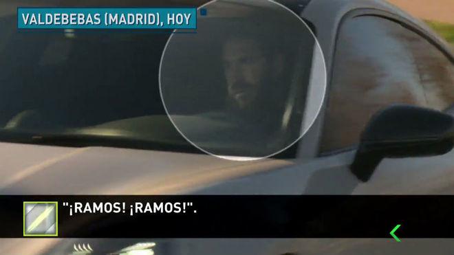 Sergio Ramos in his new Porsche 911 Turbo