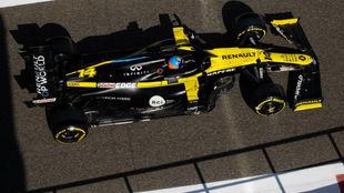 Fernando Alonso, durante su test en Abu Dabi el pasaod 15 de...