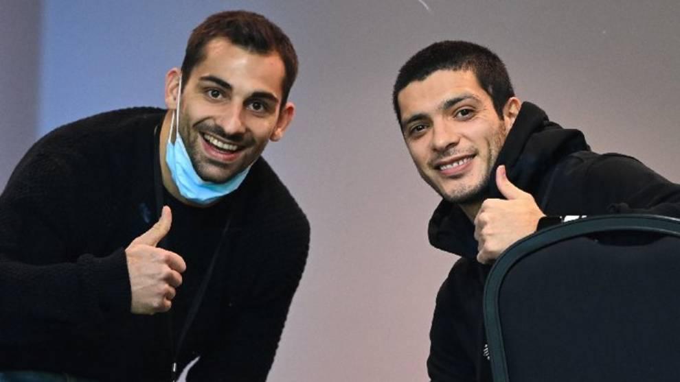 Raul Jimenez and Jonny Otto