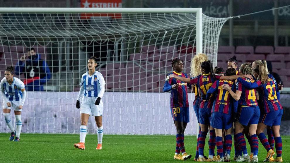 El Barça le hace una manita al Espanyol