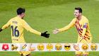 Pedri y Messi festejan el 1-2