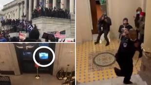 Da miedo: así invadieron el Capitolio los seguidores de Trump