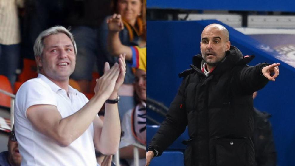 Santiago Cañizares y Pep Guardiola