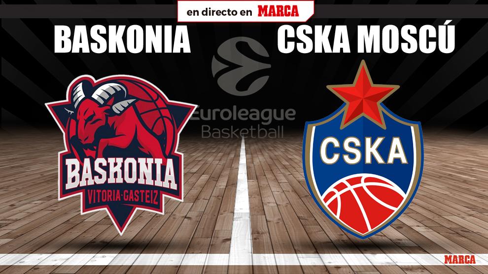 Baskonia - CSKA Moscu: horario y donde ver hoy por television y online...