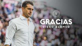 Diego Alonso no es más técnico del Inter Miami de la MLS.  