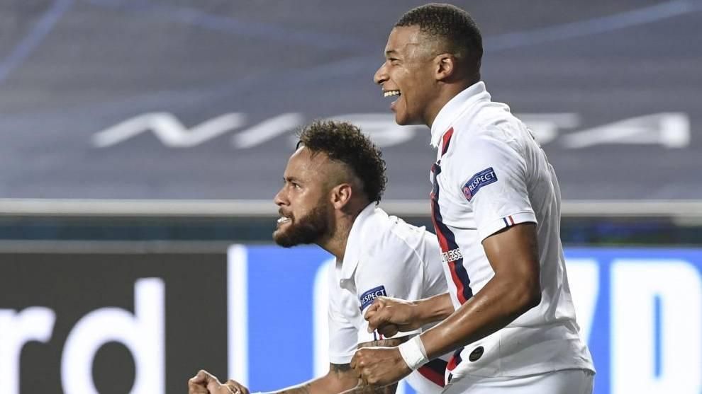 Neymar and Mbappe