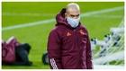 Zidane, durante el entrenamiento en el Borussia Park