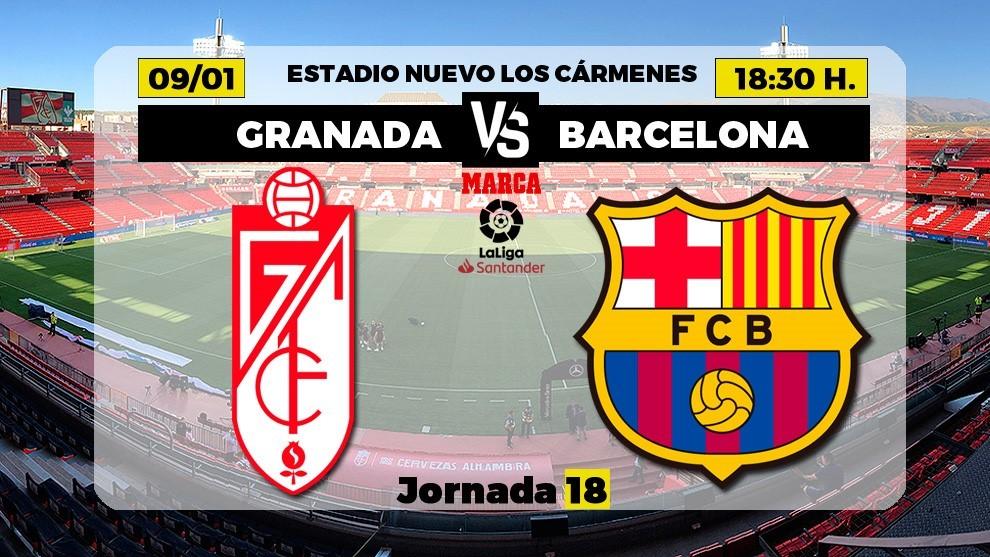 Granada - Barcelona: Granada - Barcelona: horario y dónde ver hoy en TV el partido de Liga | Marca
