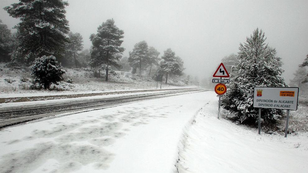 Filomena dejará mucha nieve en su recorrido de sur a norte por la península