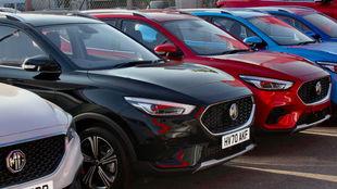 Varios modelos de la marca británica MG Motor.