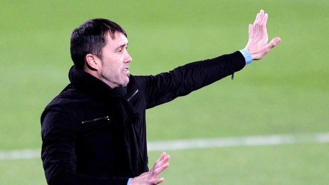 Coudet, durante el Celta-Villarreal.