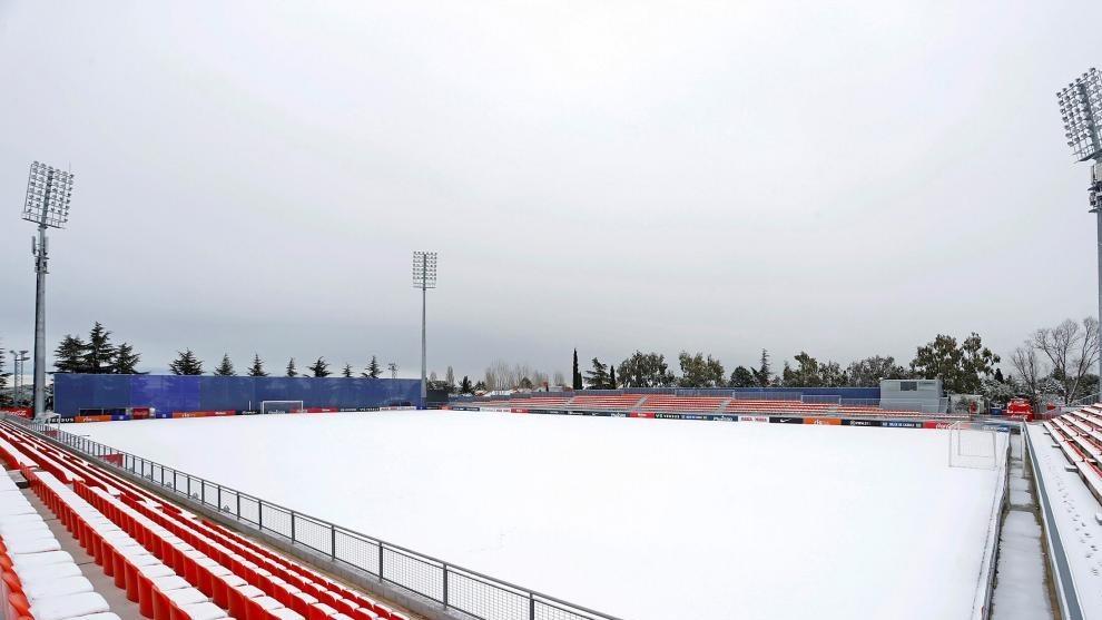 Atletico's training ground on Friday