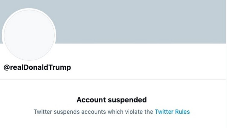 Twitter deletes Trump's account for 'incitement of violence'