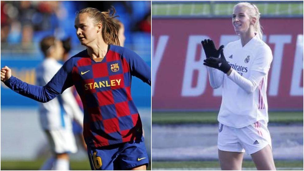 Caroline Graham-Hansen y Sofia Jakobsson, jugadoras de Barcelona y...