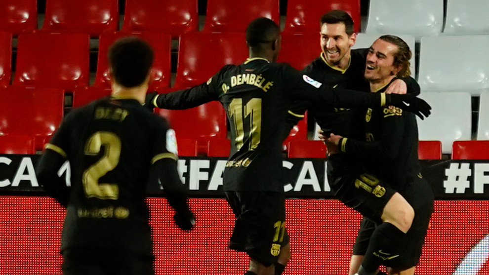 Messi y Griezmann lideran al nuevo Barça