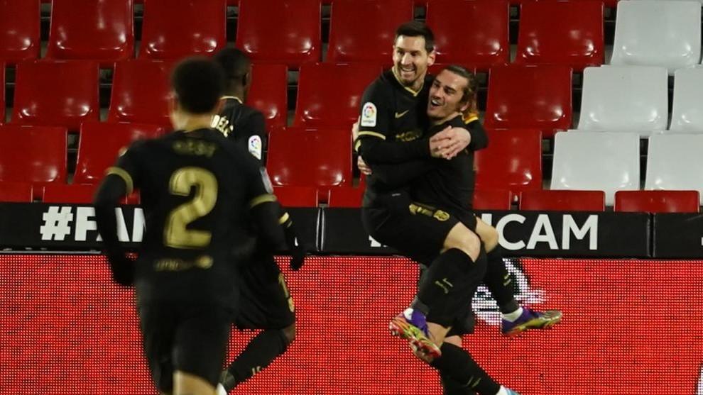 Granada - Barcelona: Uno a uno del Barça vs el Granada: Griezmann y Messi se regalan un homenaje | Marca.com