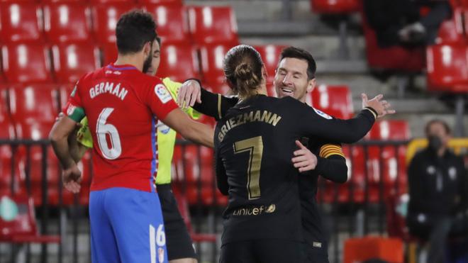 Granada vs Barcelona: Messi y Griezmann brillan con dobletes en la goleada  del Barcelona ante Granada - LaLiga Santander