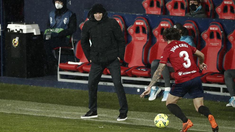 Zidane, durante el encuentro