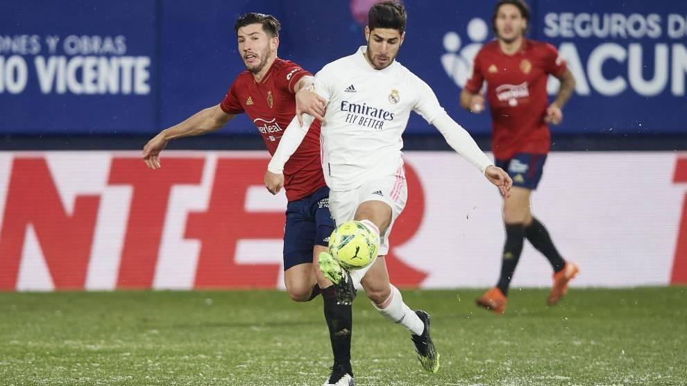Marco Asensio, en el partido ante Osasuna.