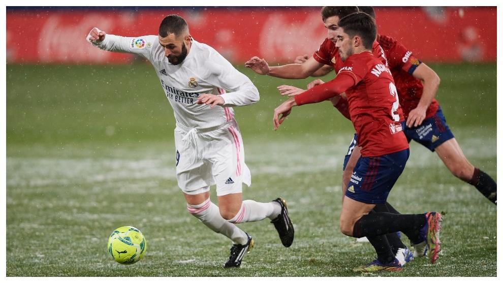 Benzema against Osasuna.