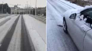 """500 kilómetros de Salamanca a Ferrol por carreteras nevadas, el viaje que denuncia Unionistas: """"Sentimos miedo"""""""
