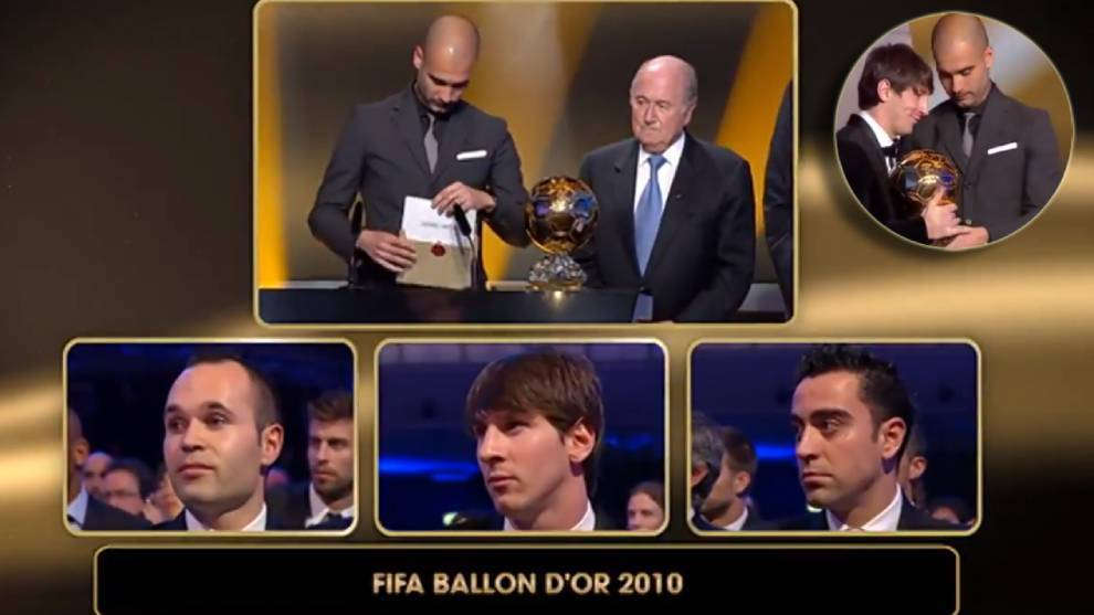 Ten years since Barcelona dominated the Ballon d'Or podium