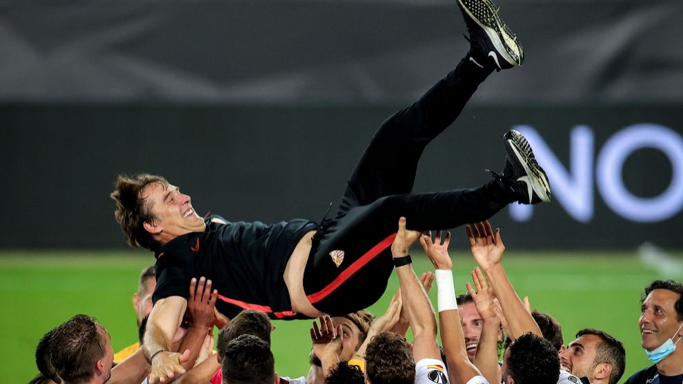 Lopetegui after winning the Europa League in 2020