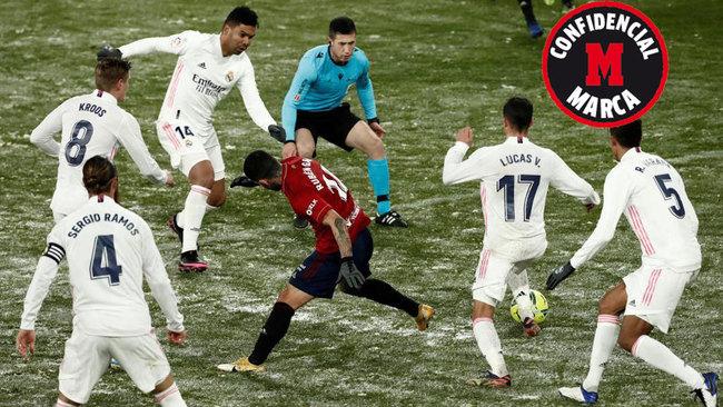 Imagen del partido entre el Real Madrid y Osasuna