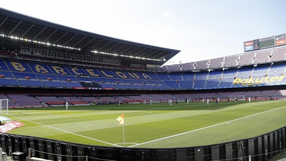 An empty Camp Nou