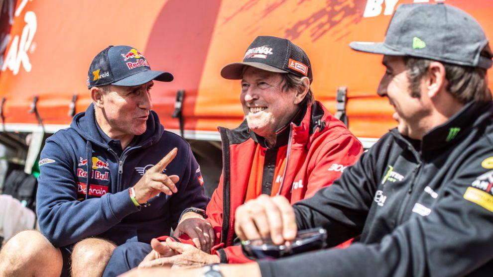 Auriol, junto a Peterhansel y Roma, los tres únicos ganadores en...